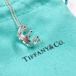 Tiffany & Co. Silver Crown Necklace